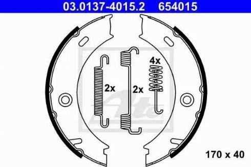 ATE 03.0137-4015.2 - Piduriklotside komplekt,seisupidur multiparts.ee