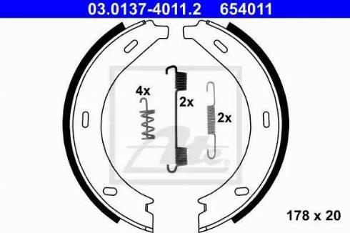 ATE 03.0137-4011.2 - Piduriklotside komplekt,seisupidur multiparts.ee