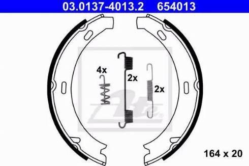 ATE 03.0137-4013.2 - Piduriklotside komplekt,seisupidur multiparts.ee