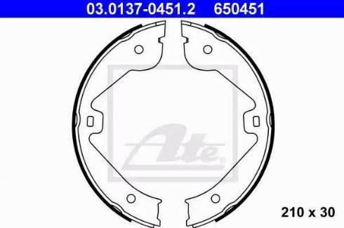 ATE 03.0137-0451.2 - Piduriklotside komplekt,seisupidur multiparts.ee