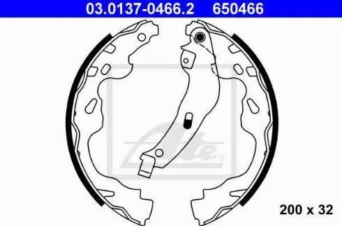 ATE 03.0137-0466.2 - Piduriklotside komplekt multiparts.ee