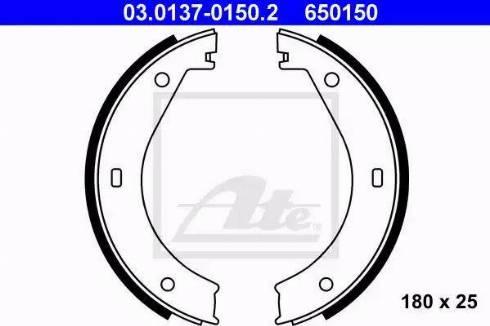 ATE 03.0137-0150.2 - Piduriklotside komplekt,seisupidur multiparts.ee
