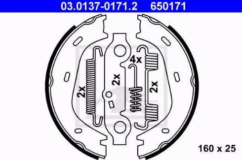ATE 03.0137-0171.2 - Piduriklotside komplekt,seisupidur multiparts.ee