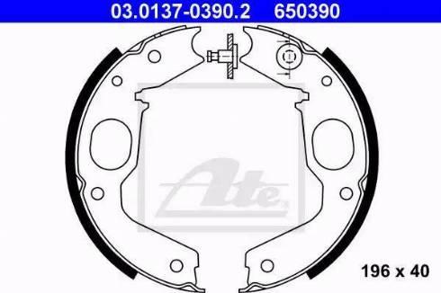 ATE 03.0137-0390.2 - Piduriklotside komplekt,seisupidur multiparts.ee
