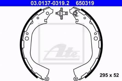 ATE 03.0137-0319.2 - Piduriklotside komplekt multiparts.ee