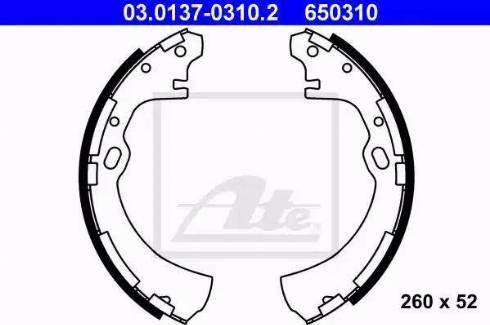 ATE 03.0137-0310.2 - Piduriklotside komplekt multiparts.ee