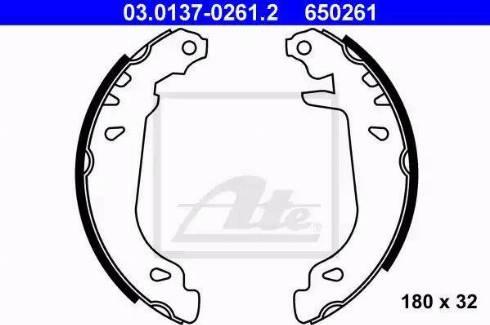 ATE 03.0137-0261.2 - Piduriklotside komplekt multiparts.ee