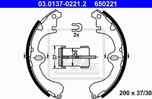 ATE 03.0137-0221.2 - Piduriklotside komplekt multiparts.ee