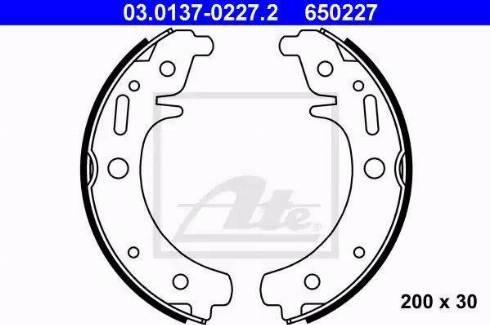 ATE 03.0137-0227.2 - Piduriklotside komplekt multiparts.ee