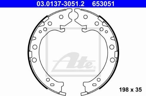 ATE 03.0137-3051.2 - Piduriklotside komplekt,seisupidur multiparts.ee