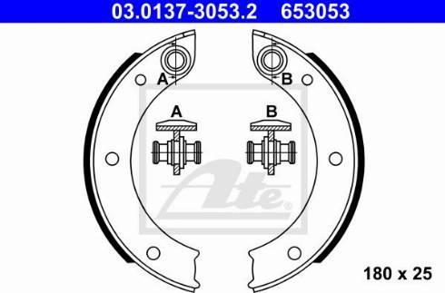 ATE 03.0137-3053.2 - Piduriklotside komplekt,seisupidur multiparts.ee