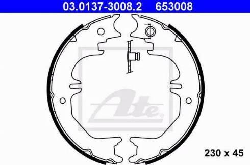 ATE 03.0137-3008.2 - Piduriklotside komplekt,seisupidur multiparts.ee