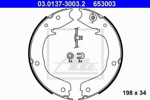 ATE 03.0137-3003.2 - Piduriklotside komplekt,seisupidur multiparts.ee