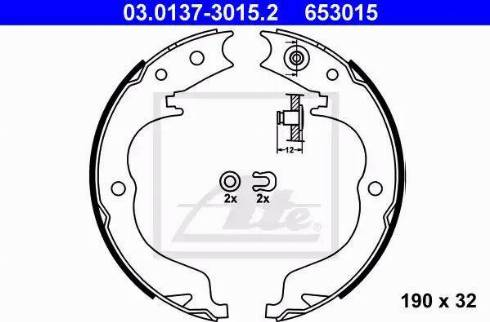 ATE 03.0137-3015.2 - Piduriklotside komplekt,seisupidur multiparts.ee