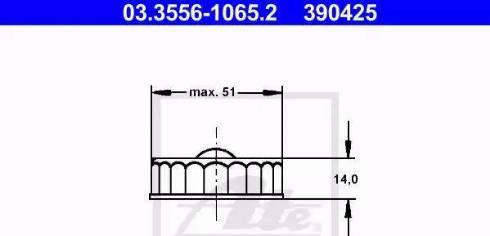 ATE 03.3556-1065.2 - Lukk, pidurivedeliku mahuti multiparts.ee