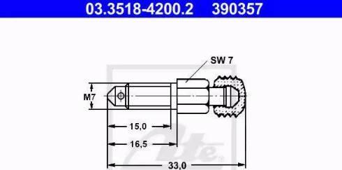 ATE 03.3518-4200.2 - Õhutuskruvi/-klapp multiparts.ee