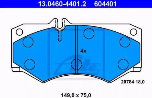 ATE 13.0460-4401.2 - Piduriklotsi komplekt,ketaspidur multiparts.ee