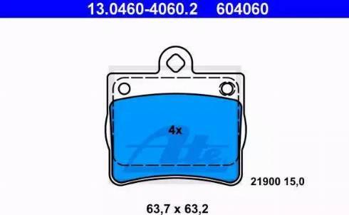 ATE 13.0460-4060.2 - Piduriklotsi komplekt,ketaspidur multiparts.ee