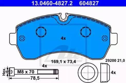 ATE 13.0460-4827.2 - Piduriklotsi komplekt,ketaspidur multiparts.ee