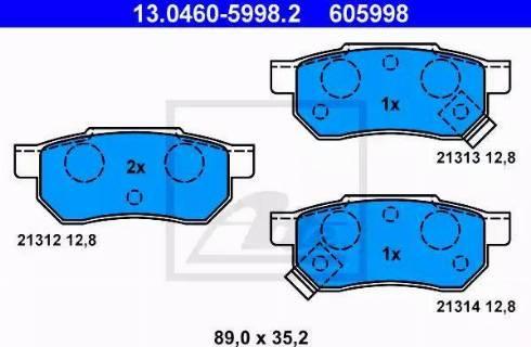 ATE 13.0460-5998.2 - Piduriklotsi komplekt,ketaspidur multiparts.ee