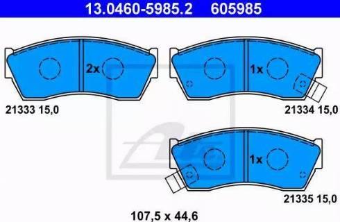 ATE 13.0460-5985.2 - Piduriklotsi komplekt,ketaspidur multiparts.ee