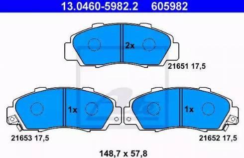 ATE 13.0460-5982.2 - Piduriklotsi komplekt,ketaspidur multiparts.ee