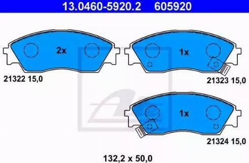 ATE 13.0460-5920.2 - Piduriklotsi komplekt,ketaspidur multiparts.ee