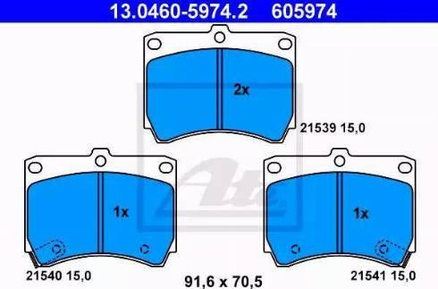 ATE 13.0460-5974.2 - Piduriklotsi komplekt,ketaspidur multiparts.ee
