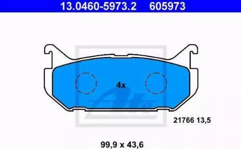 ATE 13.0460-5973.2 - Piduriklotsi komplekt,ketaspidur multiparts.ee
