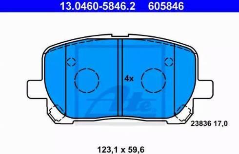 ATE 13.0460-5846.2 - Piduriklotsi komplekt,ketaspidur multiparts.ee