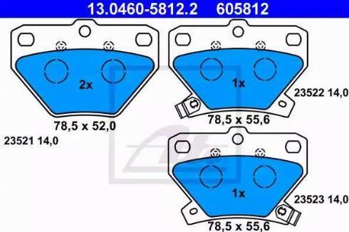 ATE 13.0460-5812.2 - Piduriklotsi komplekt,ketaspidur multiparts.ee