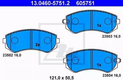 ATE 13.0460-5751.2 - Piduriklotsi komplekt,ketaspidur multiparts.ee