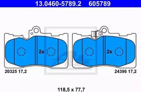 ATE 13.0460-5789.2 - Piduriklotsi komplekt,ketaspidur multiparts.ee