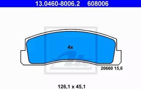 ATE 13.0460-8006.2 - Piduriklotsi komplekt,ketaspidur multiparts.ee