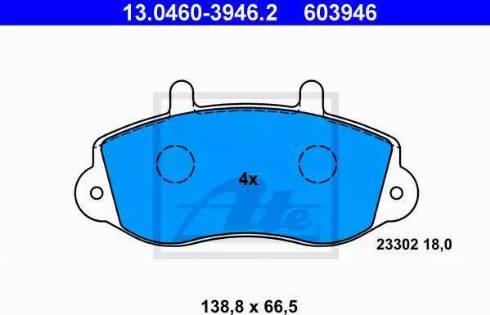 ATE 13.0460-3946.2 - Piduriklotsi komplekt,ketaspidur multiparts.ee