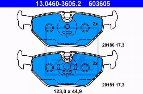 ATE 13.0460-3605.2 - Piduriklotsi komplekt,ketaspidur multiparts.ee