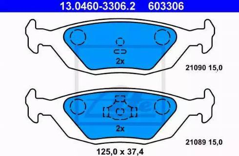 ATE 13.0460-3306.2 - Piduriklotsi komplekt,ketaspidur multiparts.ee