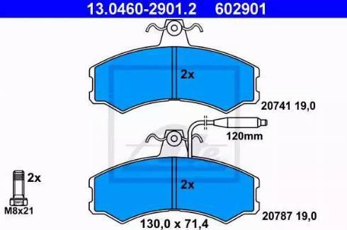 ATE 13.0460-2901.2 - Piduriklotsi komplekt,ketaspidur multiparts.ee