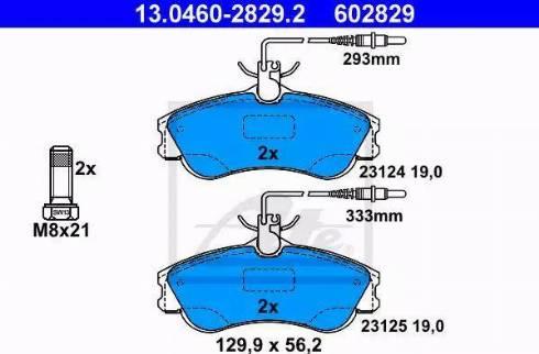 ATE 13.0460-2829.2 - Piduriklotsi komplekt,ketaspidur multiparts.ee