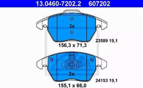 ATE 13.0460-7202.2 - Piduriklotsi komplekt,ketaspidur multiparts.ee