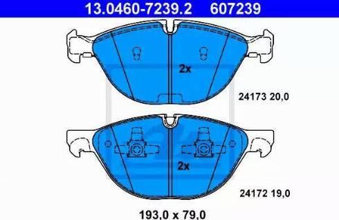 ATE 13.0460-7239.2 - Piduriklotsi komplekt,ketaspidur multiparts.ee
