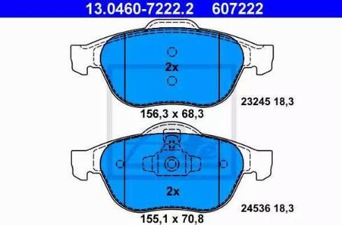 ATE 13.0460-7222.2 - Piduriklotsi komplekt,ketaspidur multiparts.ee