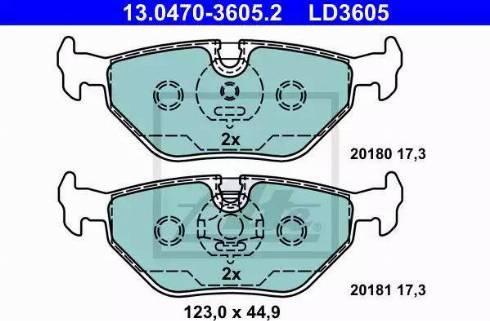 ATE 13.0470-3605.2 - Piduriklotsi komplekt,ketaspidur multiparts.ee