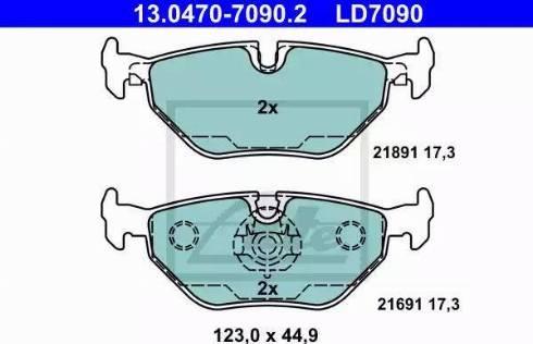 ATE 13.0470-7090.2 - Piduriklotsi komplekt,ketaspidur multiparts.ee