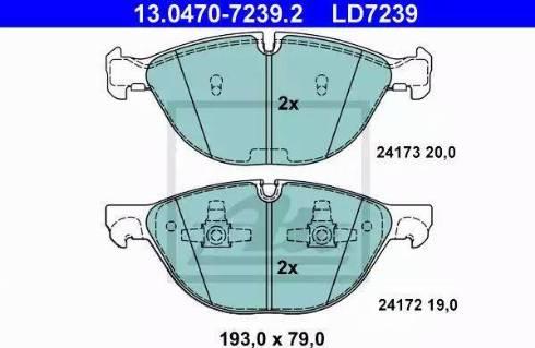 ATE 13.0470-7239.2 - Piduriklotsi komplekt,ketaspidur multiparts.ee