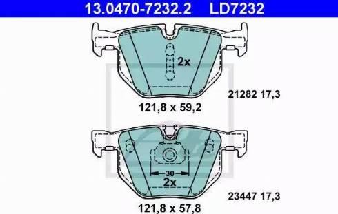 ATE 13.0470-7232.2 - Piduriklotsi komplekt,ketaspidur multiparts.ee