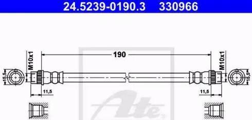 ATE 24.5239-0190.3 - Pidurivoolik multiparts.ee