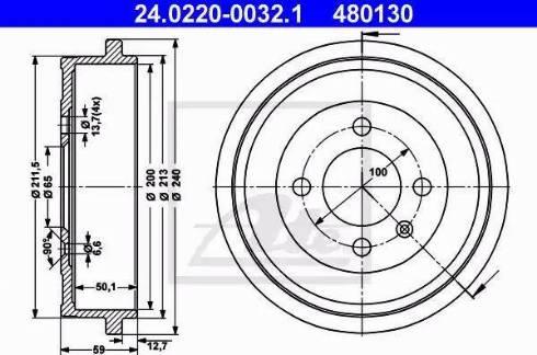 ATE 24.0220-0032.1 - Piduritrummel multiparts.ee