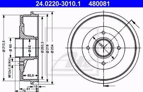 ATE 24.0220-3010.1 - Piduritrummel multiparts.ee