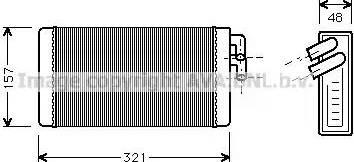 Ava Quality Cooling AI6052 - Soojusvaheti,salongiküte multiparts.ee